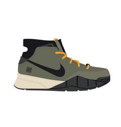 Nike air jordan sneaker trainer flat design ve vector