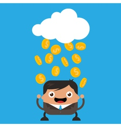 Raining Gold Coins vector image