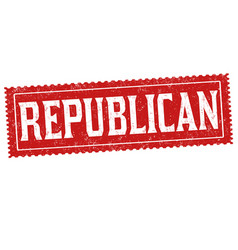 republican sign or stamp vector image