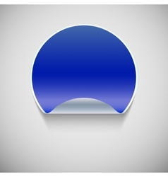 Round blue sticker vector image