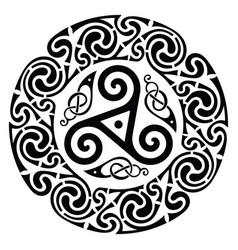 Round celtic design celtic mandala vector