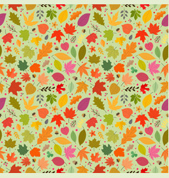 seamless pattern colorful autumn leaves vector image