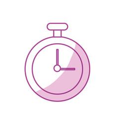 Silhouette chronometer element to training sport vector