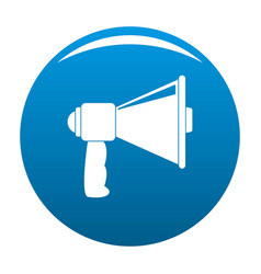 small megaphone icon blue vector image