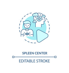 Spleen center turquoise concept icon vector