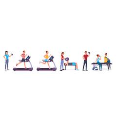 sport people set vector image