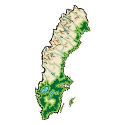 Sweden map vector image