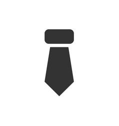 tie necktie icon flat vector image