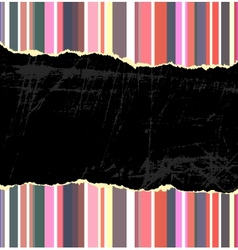 Torn vintage background vector image