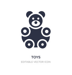 toys icon on white background simple element from vector image