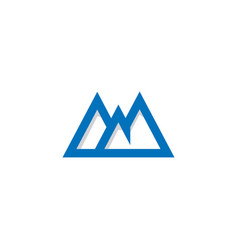 triangle mountain abstract line company logo vector image