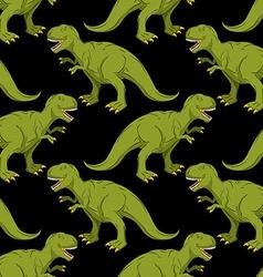 Tyrannosaurus seamless pattern Angry prehistoric vector