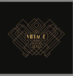 Vintage style logo retro luxury geometric vector