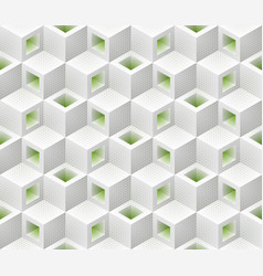White green cubes isometric seamless pattern vector