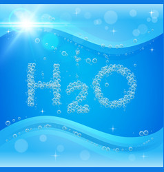bubble background blue banner or flyer with water vector image vector image