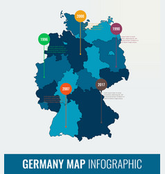 germany map infographic template all regions are vector image