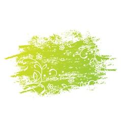 Grunge Floral Green Design vector image
