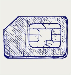 Mobile phone sim vector image vector image