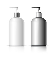 set of realistic cosmetic dispenser bottle vector image vector image