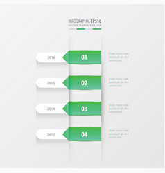 timeline template green gradient color vector image vector image