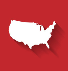 united states of america usa white map vector image