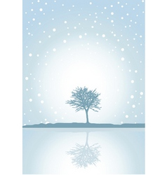 winter reflections vector image vector image