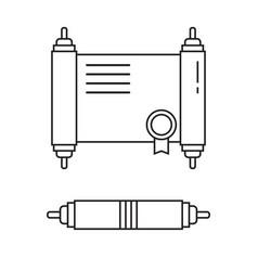 Diploma certificate icon vector