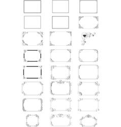 elegant borders vector image vector image
