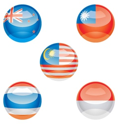 flag buttons vector image vector image