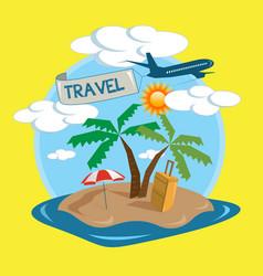 travel tropical island design vector image vector image
