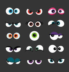 eyes set funny comic monster vector image vector image