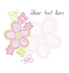 flower card with space for text vector image