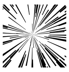 abstract speed motion black lines vector image vector image