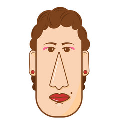 avatar of middle aged woman in vector image