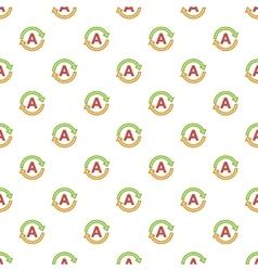 Translating pattern cartoon style vector image