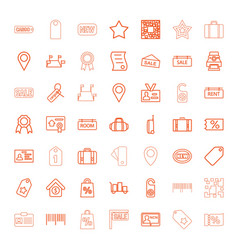 49 tag icons vector image