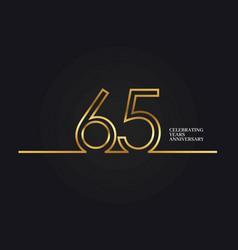 65 years anniversary vector image
