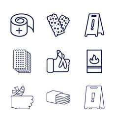 9 accident icons vector
