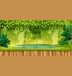 a green jungle scene vector image