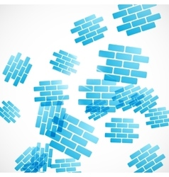 abstract background brick vector image