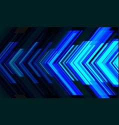 Abstract blue arrow light direction technology vector