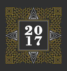 Abstract new year 2017 ornament background vector image