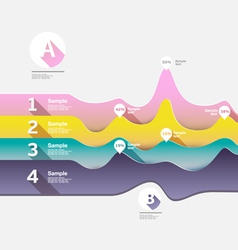 Abstract paper infographics vector