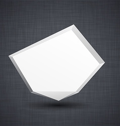 Announcement white paper origami balloon vector image