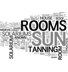 are sun rooms safe text word cloud concept vector image