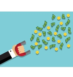 attract money and wealth vector image
