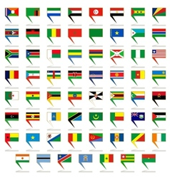 Badges with flags of Africa vector image