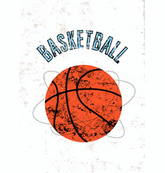 Basketball typographical vintage grunge poster vector
