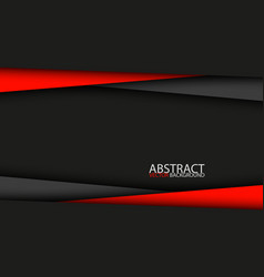 Black and red modern material design background vector