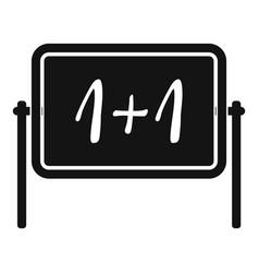 Board icon simple style vector